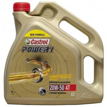ACEITE CASTROL 4T POWER 1 20W50 4L.