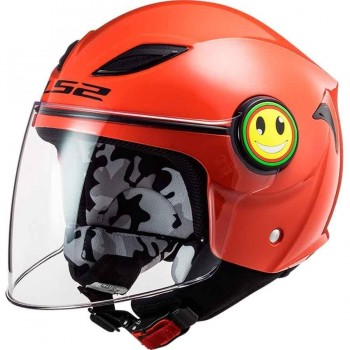 CASCO LS2 OF602 FUNNY SLUCH RED WHITE